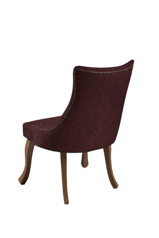 Cadeira Luis XVI Marsala Tecido Linho DAF