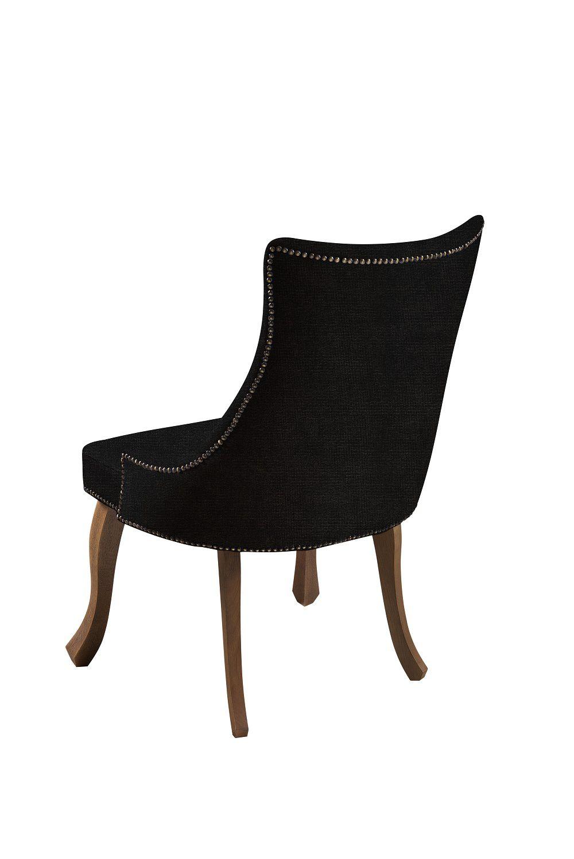 Cadeira Luis XVI Preta Tecido Veludo DAF