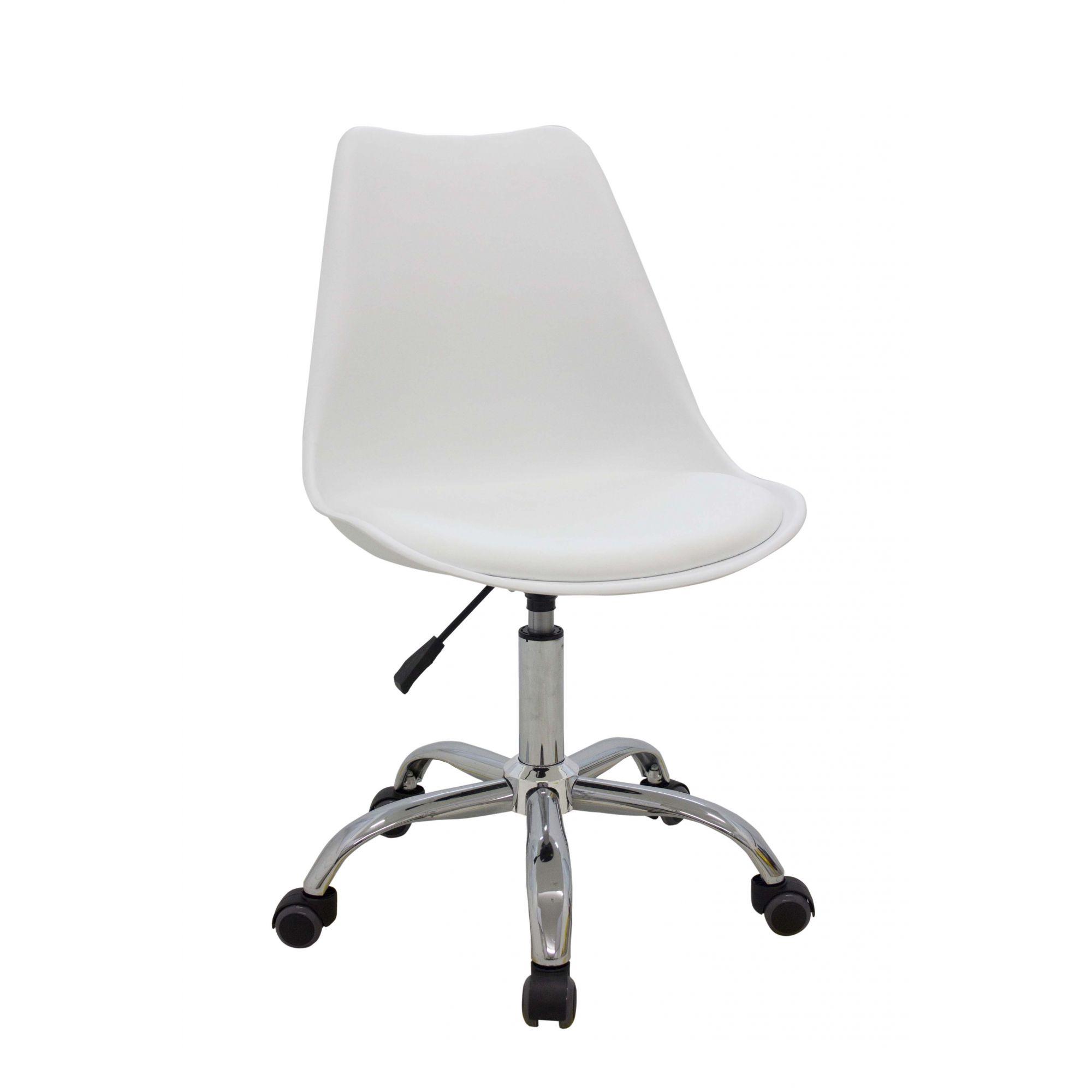 Cadeira Office Luísa Rodízio Base Cromada Rivatti