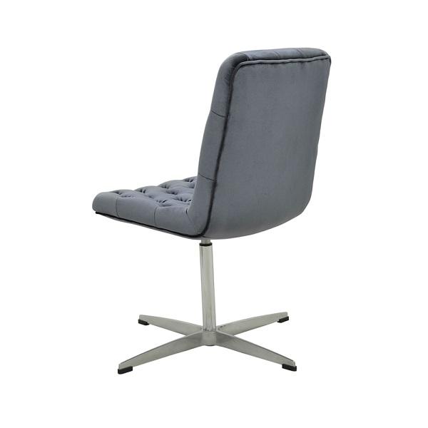 Cadeira Marta Veludo Capitonê Giratória Rivatti