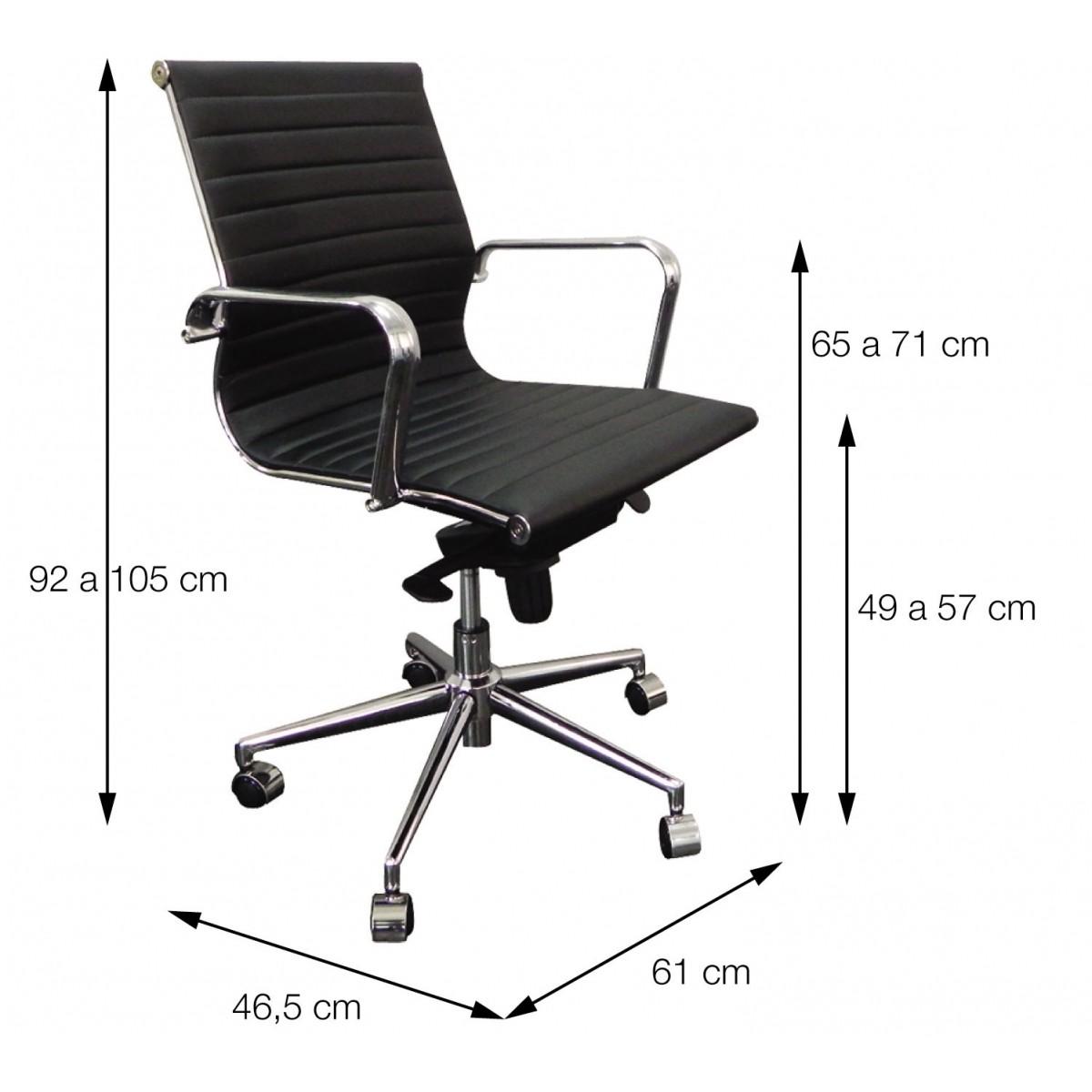 Cadeira Office Esteirinha Baixa Retrô OR Design