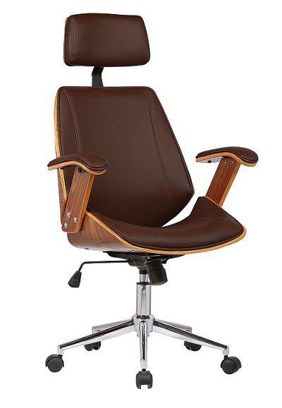 Cadeira Office Libia PU Base Cromada
