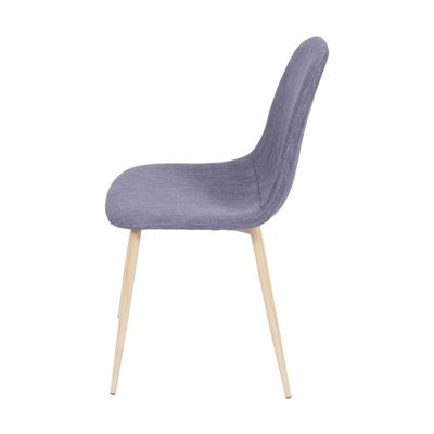Cadeira Charla em Linho Base Madeira OR Design