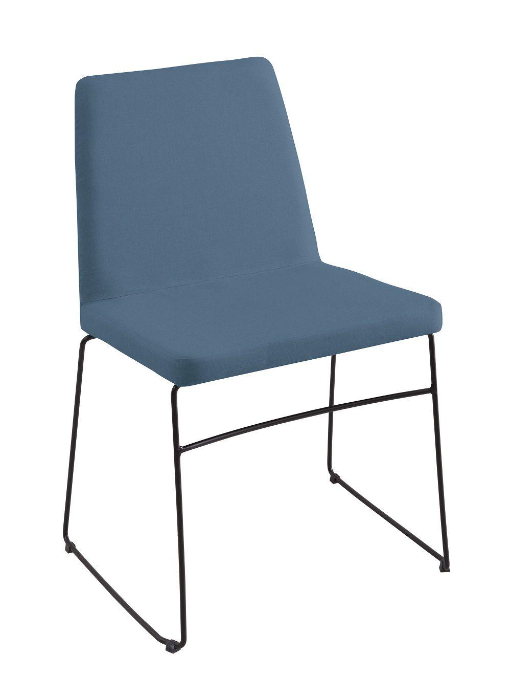 Cadeira Paris Azul Jeans Tecido Linho DAF