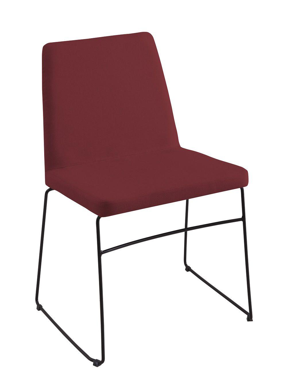 Cadeira Paris Marsala Tecido Linho DAF