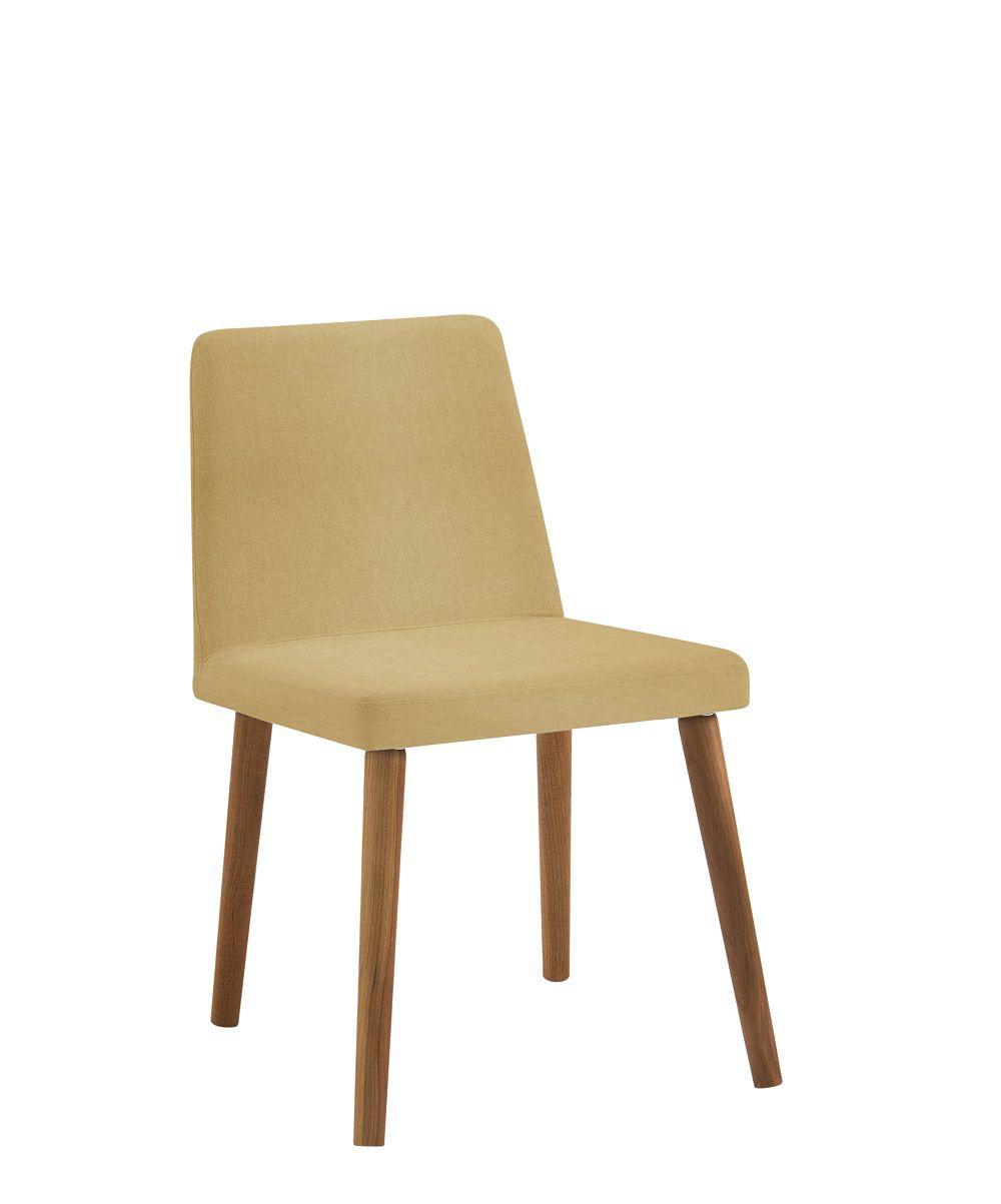 Cadeira Pri Amarelo Tecido Linho DAF