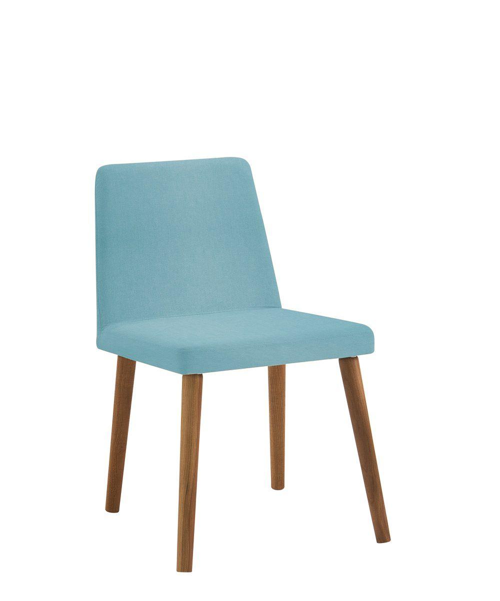 Cadeira Pri Azul Turquesa Tecido Linho DAF