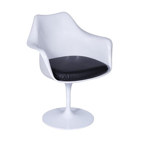 Cadeira Saarinen Com Braço Branca Almofada de Diversas Cores OR Design