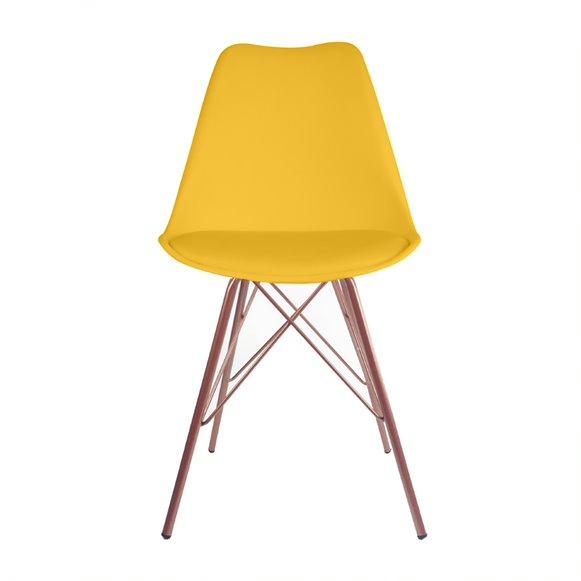 Cadeira Saarinen PP Base Tower Aço cor Cobre