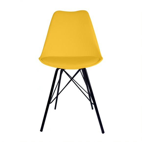 Cadeira Saarinen PP Base Tower Aço cor Preto