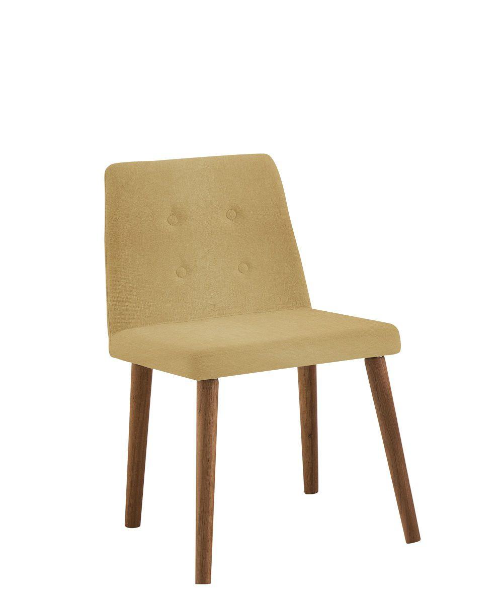 Cadeira Vega Amarelo Tecido Linho DAF