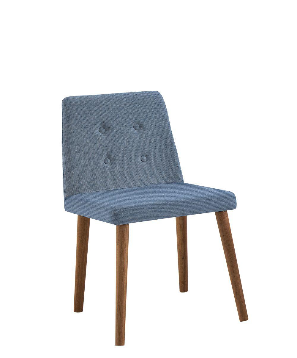 Cadeira Vega Azul Jeans Tecido Linho DAF