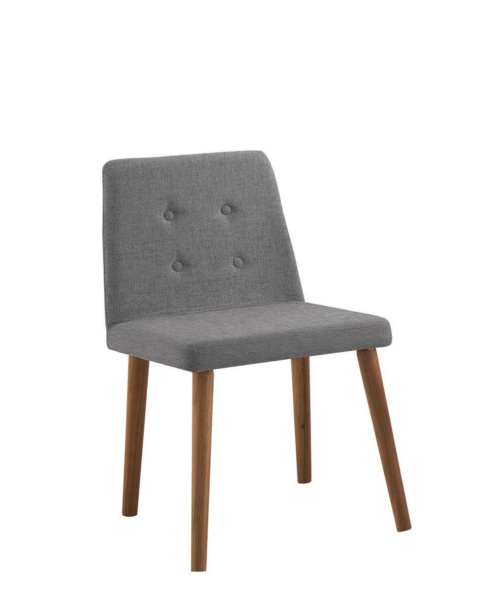 Cadeira Vega Cinza Tecido Linho DAF