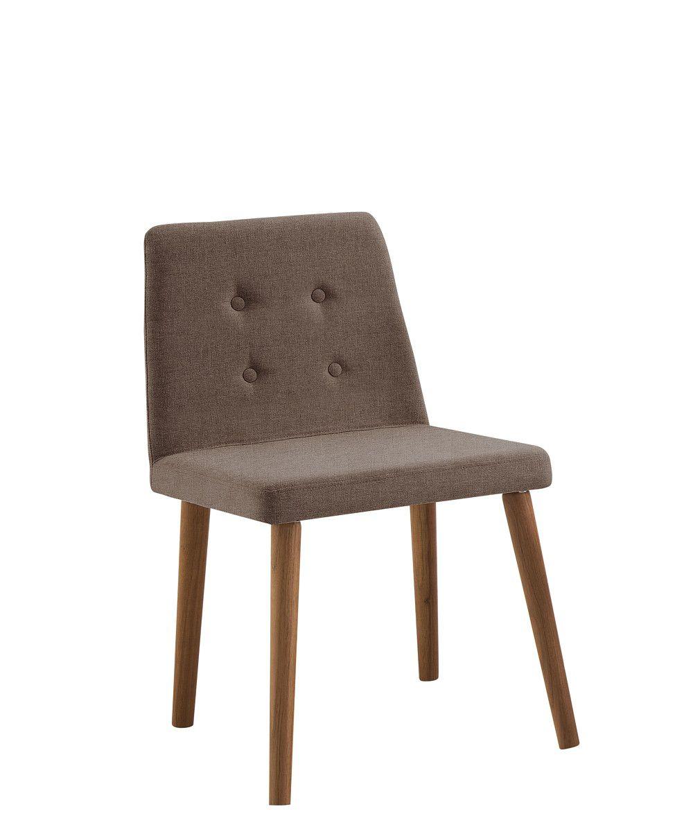 Cadeira Vega Marrom Tecido Suede DAF