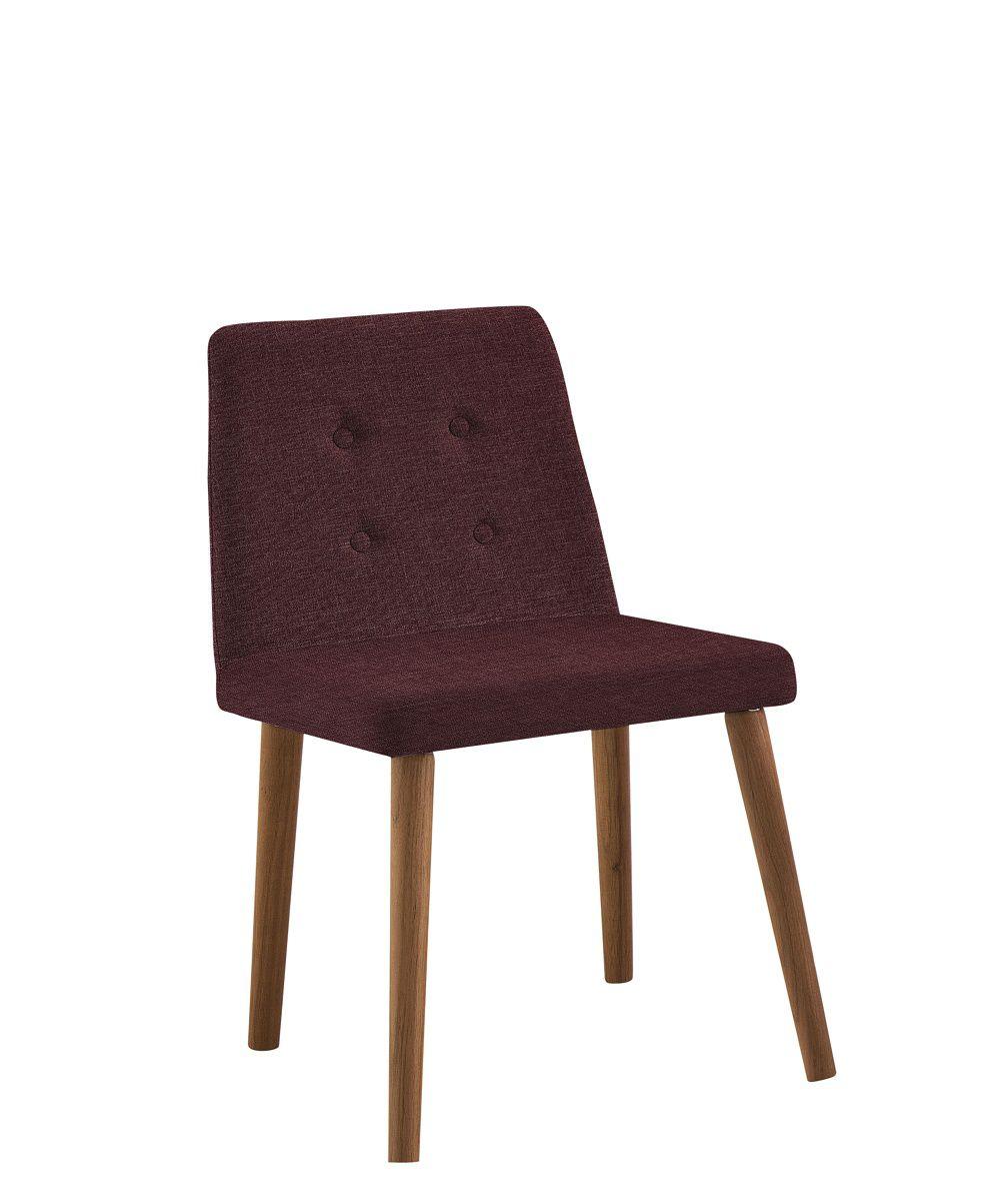 Cadeira Vega Marsala Tecido Linho DAF