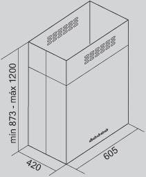 Coifa Altair Ilha 60 cm Falmec
