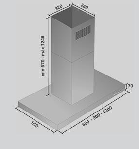 Coifa Apolo Ilha 60 cm Falmec