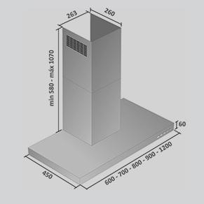 Coifa Apolo Parede 120 cm Falmec
