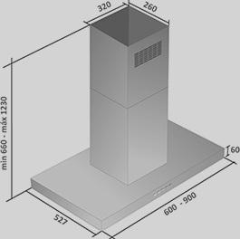 Coifa Fiamma Ilha 90 cm Falmec