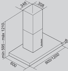 Coifa Lux Ilha 90 cm Falmec
