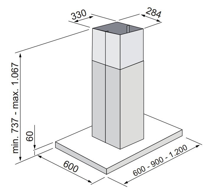 Coifa Milano Ilha 60 cm Elettromec