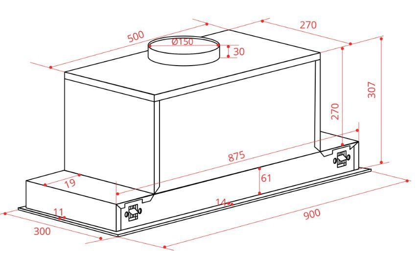 Coifa Mobile Embutir 90 cm Elettromec