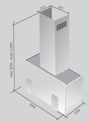 Coifa Narcisse Plus Parede Vidro Preto 85 cm Falmec