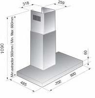 Coifa Parede NP 06.9 90 cm Crissair