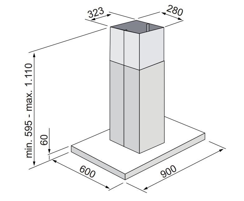 Coifa Parma Ilha 90 cm Elettromec