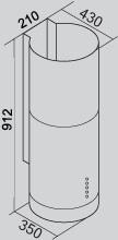 Coifa Polar Parede 35 cm Falmec