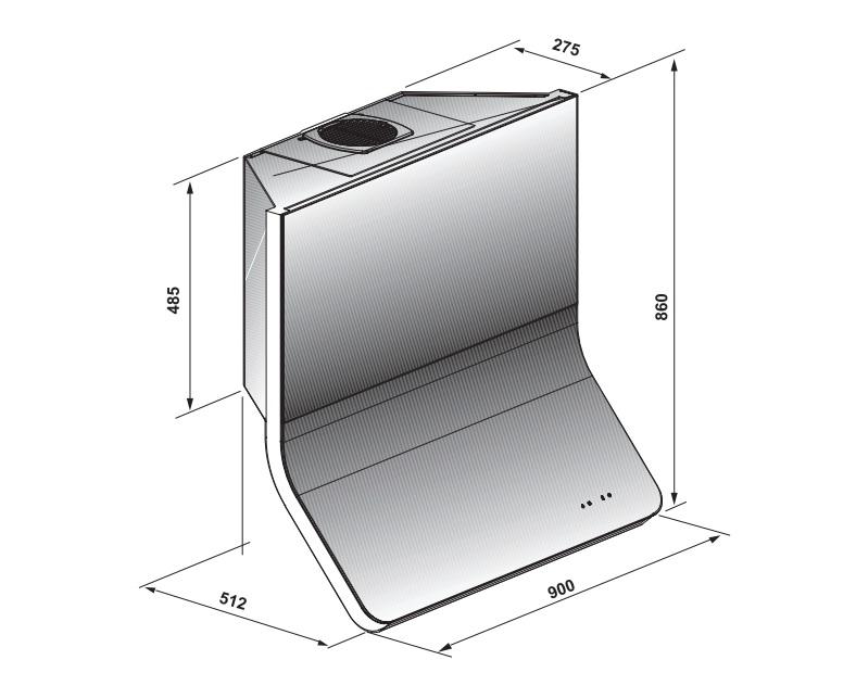 Coifa Progettare Parede 90 cm Elettromec