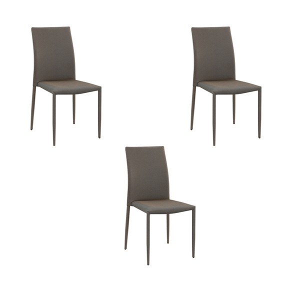 Cadeira Amanda Tecido Rivatti 3 Und
