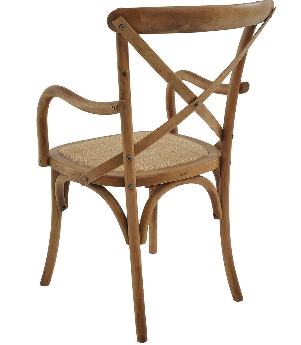 Cadeira Katrina Com Braço Bétula Rivatti 4 Und