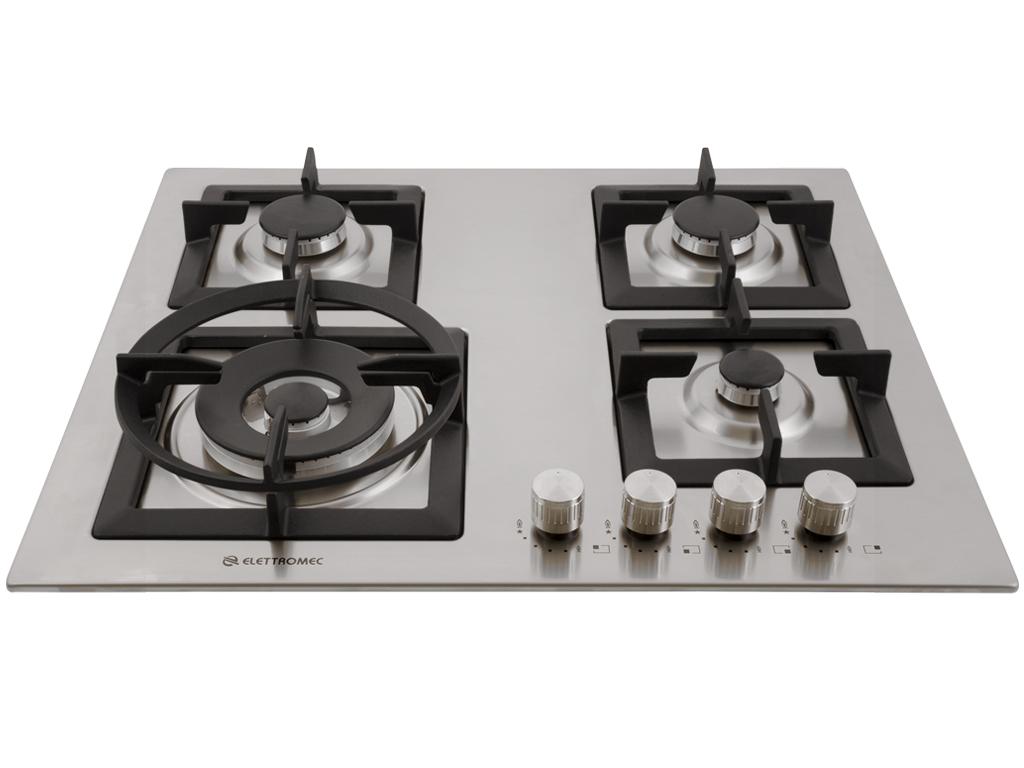 Cooktop Quadratto a Gás 4 Queimadores 60 cm Elettromec