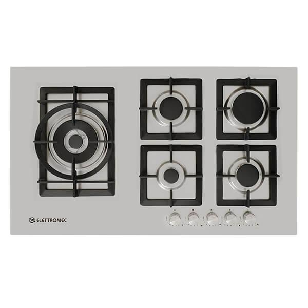Cooktop Quadratto A Gás 5 Queimadores 90 cm Elettromec