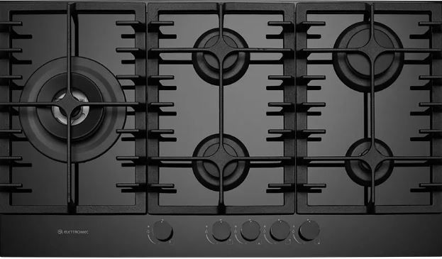 Cooktop Vetro 5 Queimadores a Gás 90 cm - Elettromec