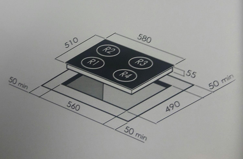 Cooktop Vitrocerâmico Elétrico 4 Queimadores CCV 30 G3 Crissair
