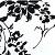 Estampa Floral Preto e Branco