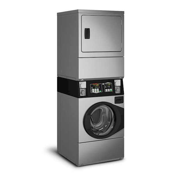 Lavadora e Secadora à Gás Comercial Speed Queen Quantum 9,5 Kg Inox sem Cofre e Ficheiro 220V
