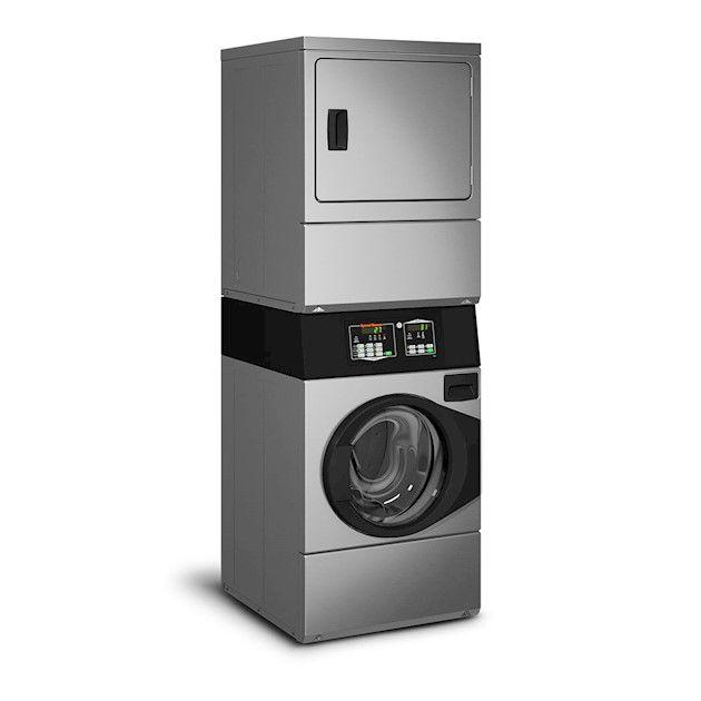 Lavadora e Secadora Elétrica Comercial Speed Queen Quantum 9,5 Kg Inox sem Cofre e Ficheiro 220V