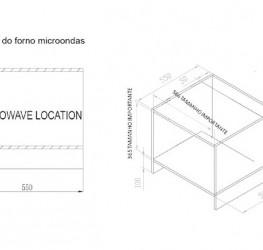Micro-ondas e Grill Elétrico 55cm 31 Litros Cuisinart Casual Cooking