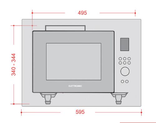 Micro-ondas Luce Flat 25 Litros Elettromec