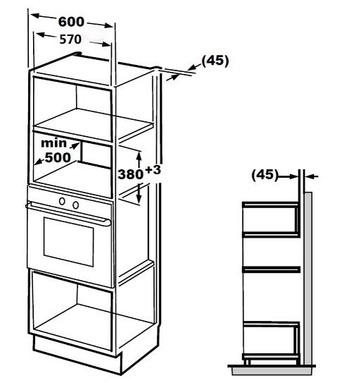Microondas de embutir CFM 90 G3 Crissair