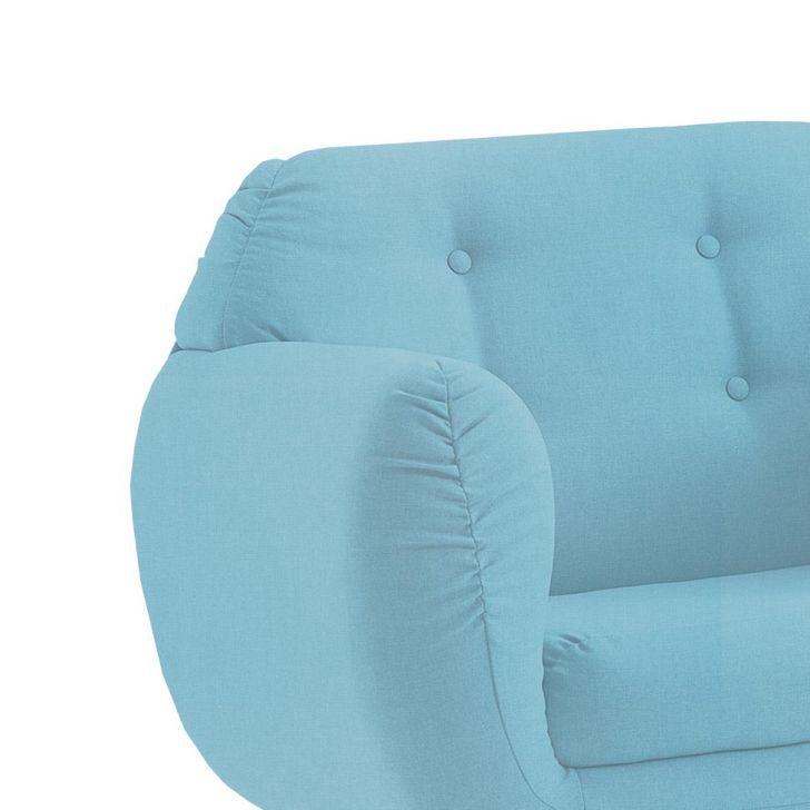 Poltrona Beatle Color Trends Linho Azul Turquesa DAF