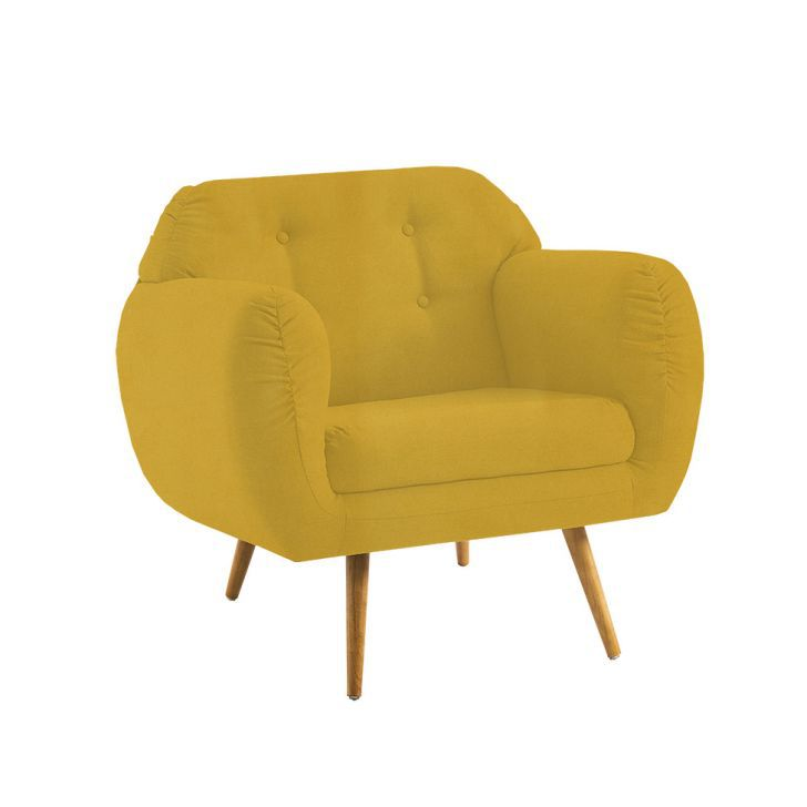 Poltrona Beatle Color Trends Suede Amarelo DAF