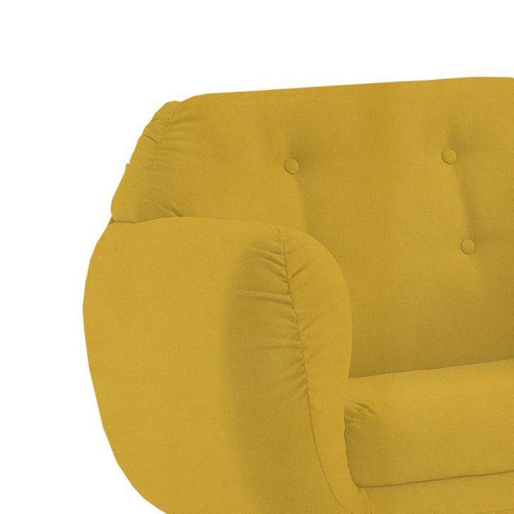 Poltrona Beatle Color Trends Suede Amarelo DAF