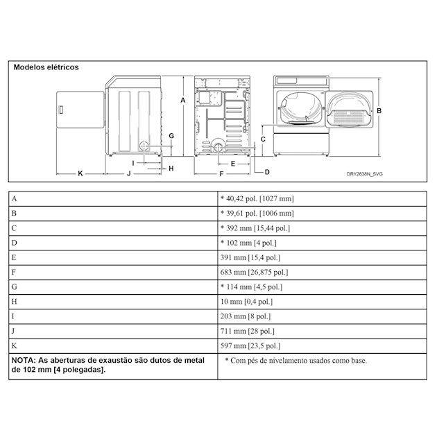 Secadora de Roupas Elétrica Speed Queen 10,5Kg Inox 220V