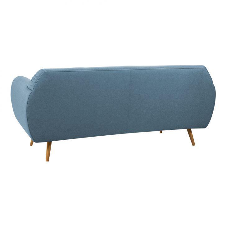 Sofá Beatle Color Trends 3 Lugares Linho Azul Jeans DAF
