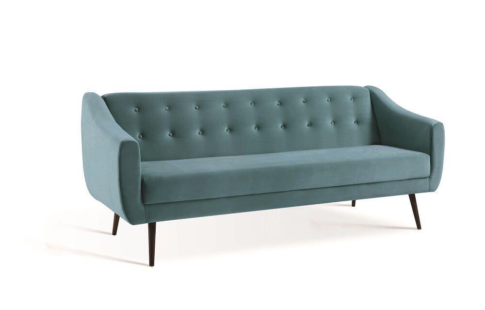 Sofa Cama Mimo Azul Tecido Veludo