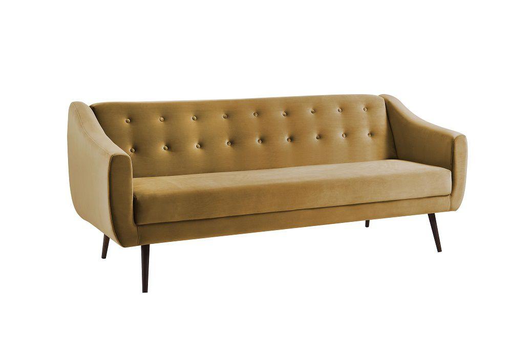 Sofa Cama Mimo Dourado Tecido Veludo